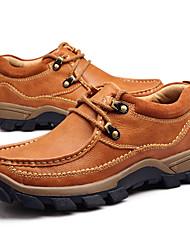 Недорогие -Муж. Комфортная обувь Наппа Leather Весна / Осень Кеды Коричневый / Хаки