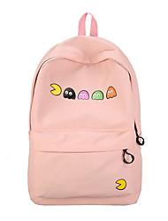 preiswerte -Damen Taschen Oxford Tuch Rucksack Reißverschluss Schwarz / Rosa / Gelb