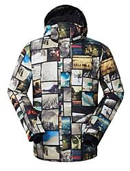 Недорогие -GSOU SNOW Муж. Лыжная куртка Лыжные очки, Лыжи, Зимние виды спорта Катание на лыжах / Зимние виды спорта Полиэфир Верхняя часть Одежда для катания на лыжах