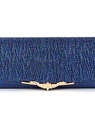 Недорогие -Жен. Мешки Satin Вечерняя сумочка Однотонные Темно-синий / Коричневый / Темно-серый
