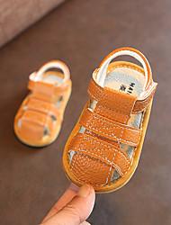 Недорогие -Мальчики / Девочки Обувь Микроволокно Лето Обувь для малышей Сандалии На липучках для Дети Коричневый / Синий / Розовый