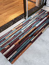 cheap -Doormats Christmas Bonded / Flannelette, Rectangle Superior Quality Rug