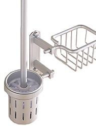 abordables -Porte Brosse de Toilette Design nouveau / Cool Moderne Aluminium 1pc Porte-brosse WC Montage mural