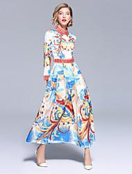 cheap -Women's Boho / Street chic Swing Dress - Animal Print
