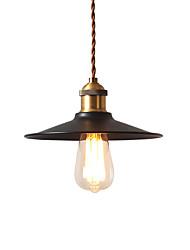 abordables -loft de style industriel vintage mini suspensions noir abat-jour en métal barres cuisine lampe salle à manger