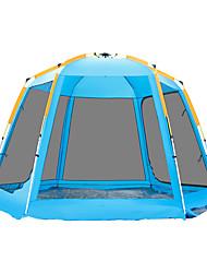 Недорогие -TANXIANZHE® 6 человек Семейный кемпинг-палатка На открытом воздухе С защитой от ветра, Дожденепроницаемый, Воздухопроницаемость Двухслойные зонты Автоматический Палатка 2000-3000 mm для