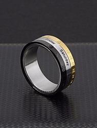 cheap -Men's Stylish Ring - Titanium Steel Letter Simple, Trendy, Hyperbole 6 / 7 / 8 / 9 / 10 Silver For Street Club