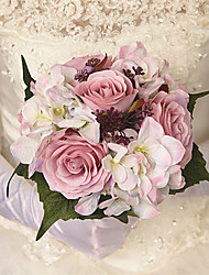 baratos -Flores artificiais 1 Ramo Clássico / Solteiro (L150 cm x C200 cm) Estiloso / Pastoril Estilo Rosas / Hortênsia Flor de Mesa