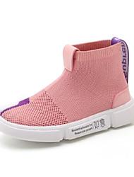Недорогие -Девочки Обувь Эластичная ткань Весна & осень Удобная обувь Кеды для Черный / Розовый