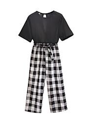 cheap -Women's Set - Check Pant