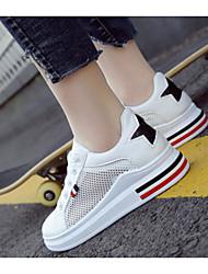 abordables -Femme Chaussures de confort Maille Printemps Chaussures d'Athlétisme Marche Talon Plat Rose et blanc / Noir / blanc / Blanc et vert