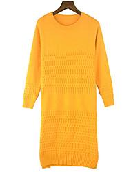 baratos -Mulheres Para Noite Tricô Vestido Altura dos Joelhos