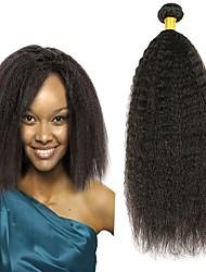 Недорогие -3 Связки Перуанские волосы Вытянутые 8A Натуральные волосы Необработанные натуральные волосы Подарки Косплей Костюмы Человека ткет Волосы 8-28 дюймовый Естественный цвет Ткет человеческих волос