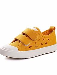 preiswerte -Jungen Schuhe Leinwand Frühling & Herbst Komfort Sneakers für Weiß / Schwarz / Gelb