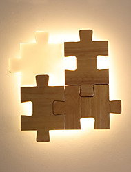 cheap -JLYLITE Mini Style Modern / Contemporary Flush Mount wall Lights Study Room / Office / Office Wood / Bamboo Wall Light 110-120V / 220-240V 12 W