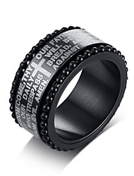 cheap -Men's Stylish Band Ring - Stainless Steel Artistic, Trendy, Hip-Hop 8 / 9 / 10 Black For Gift / Daily