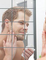 Недорогие -Декоративные наклейки на стены - Зеркальные стикеры Геометрия Ванная комната / В помещении