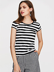 cheap -Women's Casual Tank Top - Striped