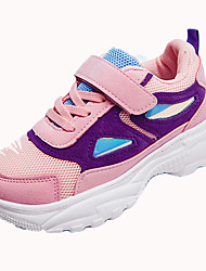 cheap -Girls' Shoes Mesh Fall & Winter Comfort Sneakers Walking Shoes Buckle for Kids White / Black / Pink