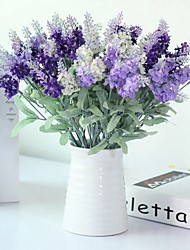 cheap -Artificial Flowers 5 Branch Classic / Single Stylish / Pastoral Style Lavender Tabletop Flower