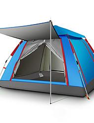 Недорогие -TANXIANZHE® 4 человека Семейный кемпинг-палатка На открытом воздухе С защитой от ветра, Легкость, Дожденепроницаемый Однослойный Автоматический Палатка 2000-3000 mm для