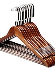 economico -di legno Multi-funzione Abbigliamento Appendiabiti, 10 pezzi