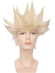 Недорогие -Wig Accessories Прямой Ассиметричная стрижка Искусственные волосы 12 дюймовый Кейс Красный / Черный Парик Муж. Короткие Без шапочки-основы Зеленый Желтый Черный