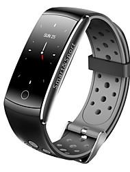 baratos -Pulseira inteligente JSBP-Q8S para Android iOS Bluetooth Impermeável Monitor de Batimento Cardíaco Medição de Pressão Sanguínea Tela de toque Calorias Queimadas Temporizador Podômetro Aviso de