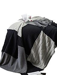 Недорогие -Супер мягкий, Активный краситель Однотонный / В клетку Хлопок одеяла