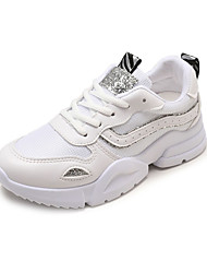 cheap -Women's Mesh Summer Comfort Athletic Shoes Walking Shoes Flat Heel Round Toe Silver / Red