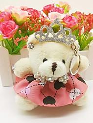 cheap -Bear Keychain Blue / Pink / Watermelon Irregular, Animal Fur, Alloy Sweet, Fashion For Gift / Daily