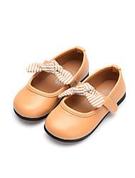 cheap -Girls' Shoes PU(Polyurethane) Spring &  Fall / Fall Flower Girl Shoes Flats Walking Shoes Buckle for Kids Black / Beige / Light Brown