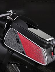 abordables -Wheel up Bolso del teléfono celular / Bolsa para Manillar 6 pulgada Pantalla táctil, Reflexivo Ciclismo para Ciclismo Negro