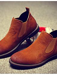 billige -Herre Fashion Boots Ruskind Efterår / Vinter Klassisk / Afslappet Støvler Hold Varm Ankelstøvler Gradient Grå / Brun / Vin