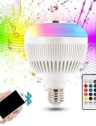 economico -KWB 1pc 12 W 1200 lm E26 / E27 Lampadine LED smart G95 28 Perline LED SMD Smart / Bluetooth / Oscurabile RGBW 100-240 V