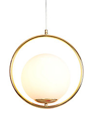 cheap -Modern Glass Pendant Lighting Ceiling Chandelier Hanging Lamp 1-Light Fixture Flush Mount Electroplated Gold Finish