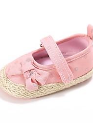 preiswerte -Mädchen Schuhe Leinwand Frühling & Herbst Komfort / Lauflern / Kinderbett Schuhe Flache Schuhe Schleife / Klettverschluss für Baby Rosa / Hochzeit / Party & Festivität