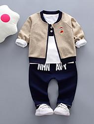 Недорогие -малыш Мальчики Классический С принтом Длинный рукав Набор одежды / Дети (1-4 лет)