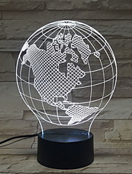 Недорогие -Мировые Глобусы Пластик LED / Классический Круглые Для дома