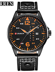 cheap -CURREN Men's Dress Watch / Bracelet Watch Chinese Calendar / date / day / Water Resistant / Water Proof / New Design Genuine Leather Band Casual / Fashion Black / Brown / Stainless Steel