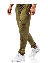 economico -Per uomo Essenziale Chino / Pantaloni della tuta Pantaloni - Tinta unita