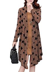 Недорогие -Жен. Большие размеры Свободный силуэт Из двух частей Платье - Геометрический принт, С принтом Выше колена / Весна / Осень