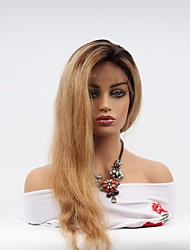 Недорогие -Remy Полностью ленточные Wig Бразильские волосы Прямой Парик Ассиметричная стрижка 130% Женский / Легко туалетный / Sexy Lady Жен. Очень длинный Парики из натуральных волос на кружевной основе