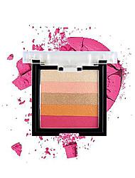 Недорогие -Makeup 5 цветов Тени Глаза Сияние и блеск / прочный Компактность Дышащий Прочный Повседневный макияж / Макияж для вечеринки Составить косметический