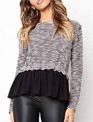 povoljno -Žene Dugih rukava Pullover Color block