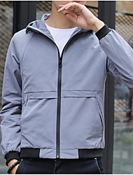 cheap -Men's Sports Jacket - Color Block Hooded / Long Sleeve