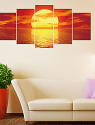 Недорогие -Декоративные наклейки на стены - Простые наклейки / 3D наклейки Пейзаж / Геометрия Гостиная / Спальня