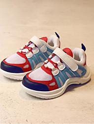 Недорогие -Мальчики Обувь Сетка Лето Удобная обувь Спортивная обувь Для прогулок Шнуровка для Дети Белый / Черный / Красный