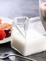 Недорогие -творческий прозрачный прозрачный молочный ящик формы сливочный кувшин молочный чашка напиток