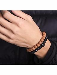 cheap -Men's Stylish / Beads Strand Bracelet / Wrap Bracelet - Creative Asian, Simple, Ethnic Bracelet Black For Daily / Date